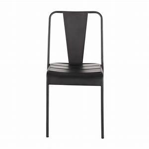 Chaise De Jardin Metal : chaise de jardin en m tal noire harry 39 s maisons du monde ~ Dailycaller-alerts.com Idées de Décoration