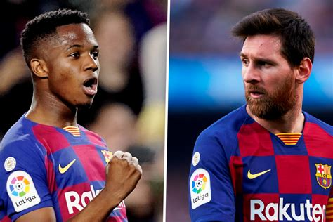 Fati vs Messi: How does Barcelona's record-breaking teen ...
