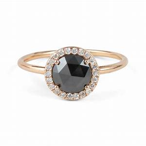 black diamond aura ring catbird With black wedding rings with diamonds