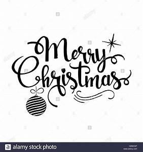 Merry Xmas Schriftzug : frohe weihnachten schriftzug moderne vektor handgezeichneten kalligraphie mit xmas tree kugel ~ Buech-reservation.com Haus und Dekorationen