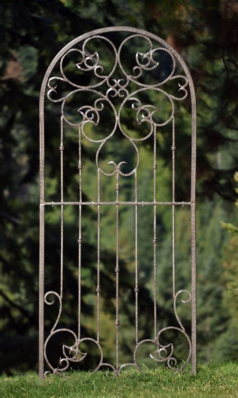 Metal Trellis by H Potter Large Wrought Iron Ornamental Metal Scroll Garden
