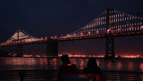 bay bridge lights overshadowed bay bridge will go from drab gray to