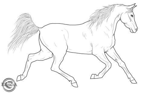 Free Horse Lineart By Eduscia On Deviantart