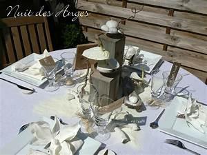 Dcoration De Table Bois Flott Nuit Des Anges