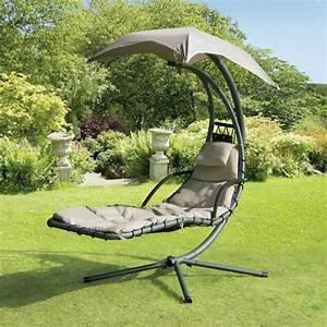 Chaise Relax Jardin : chaise longue suspendue et fauteuil relax ~ Teatrodelosmanantiales.com Idées de Décoration