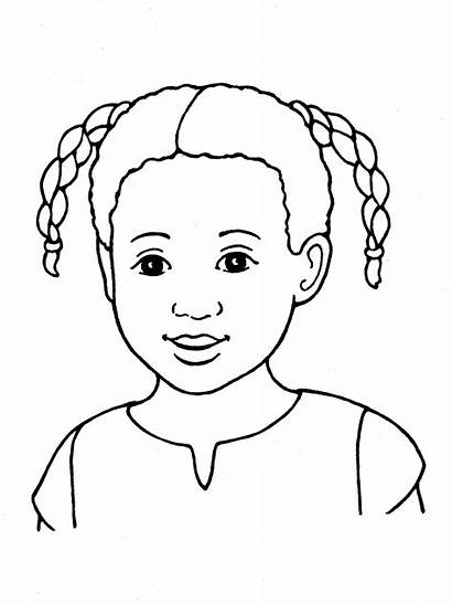 Primary Drawing Line Eyes Child Children Pigtails
