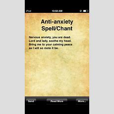Antianxiety Spellchant  Spells & Chants  Pinterest Anxiety