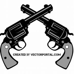 CROSSED PISTOLS - Download at Vectorportal