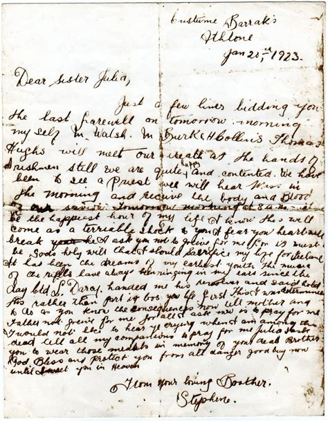 irish civil war letters on the eve of execution moore group