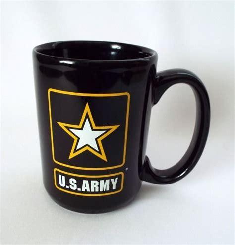 (coffee mug) a mug intended for serving coffee. U.S. #Army coffee #mug #military patriotic star black white gold large 12 oz. cup | Mugs, Black ...
