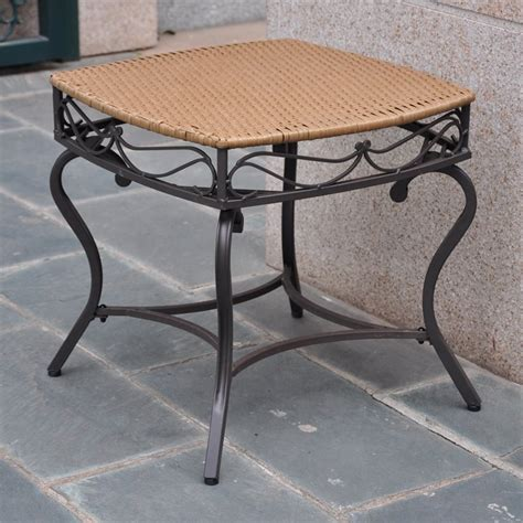 outdoor wicker patio side table 4112 st