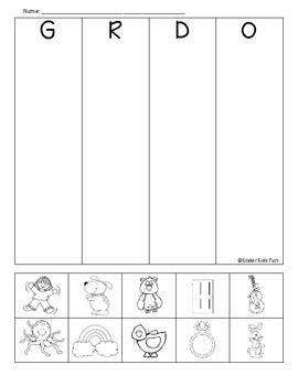 beginning sounds review sheet  images