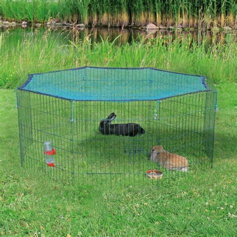 troline exterieur avec filet enclos ext 233 rieur lapin 8 panneaux avec filet de protection pour rongeur trixie auberdog