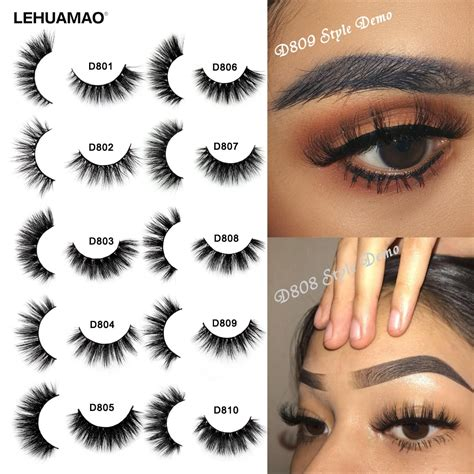 LEHUAMAO Mink Eyelashes 3D Mink Lashes Thick HandMade Full ...