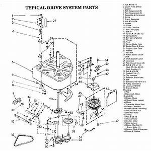 Whirlpool  U0026 Sears Kenmore Belt Drive Drive Break Down