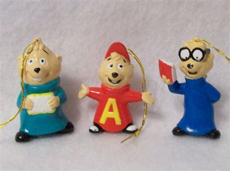 alvin and the chipmunks christmas ornament alvin and the chipmunks tree ornaments mini collection decarations ebay