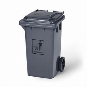 Poubelle 120 Litres : poubelle grise sur roulettesde 120 litres de capacit ~ Melissatoandfro.com Idées de Décoration