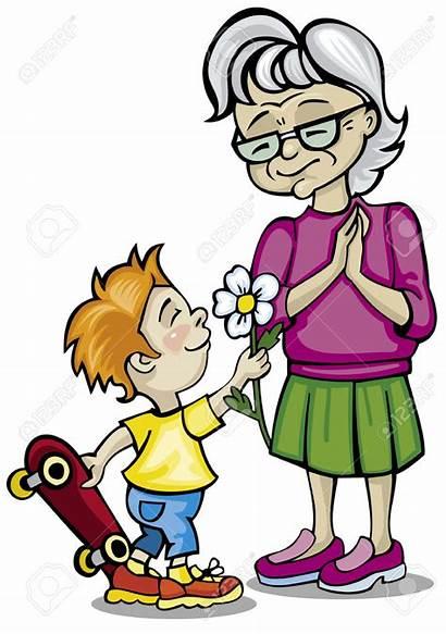 Clipart Grandparents Grandmother Grandma Grandchildren Visit Grandson