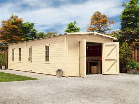 Trent Tandem Wooden Garage W397m X D945m Garages