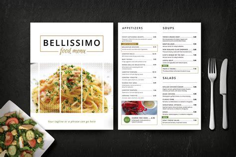 menu design templates modern restaurant menu bellissimo brochure templates