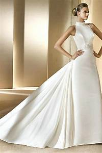 buy cheap vintage halter chapel train satin elegant With classy wedding dresses