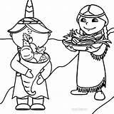 Coloring Pages Pilgrim Harvest Cool2bkids Pilgrims Printable Drawings sketch template