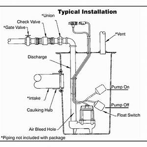 32 Sewage Ejector Pump Installation Diagram