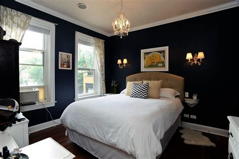 black painted bedroom 27 jaw dropping black bedrooms design ideas designing idea 10867 | traditional bedroom with dark walls white molding and mini chandelier