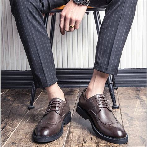 New Luxury Fashion Brand Dress Shoes Men Leather