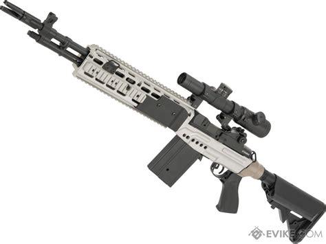 cyma metal m14 ebr designated marksman rifle airsoft