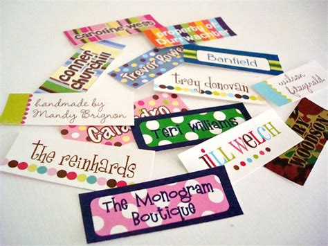 iron  personalized clothing labels