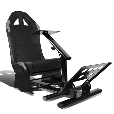 dna motoring racing seat driving simulator cockpit adjustable gaming chair steering wheel