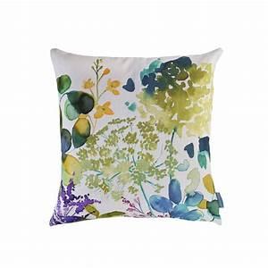 Botanical Cushion Floral Sofa Cushions Bluebellgray