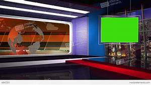 News TV Studio Set 46 Virtual Green Screen Background Loop ...