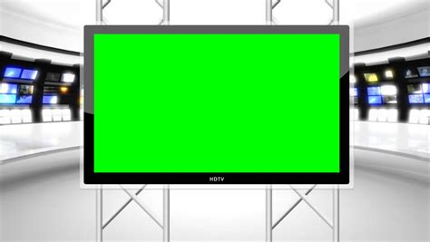 Museum Room, Loop, Green Screen And Alpha Channel Stock