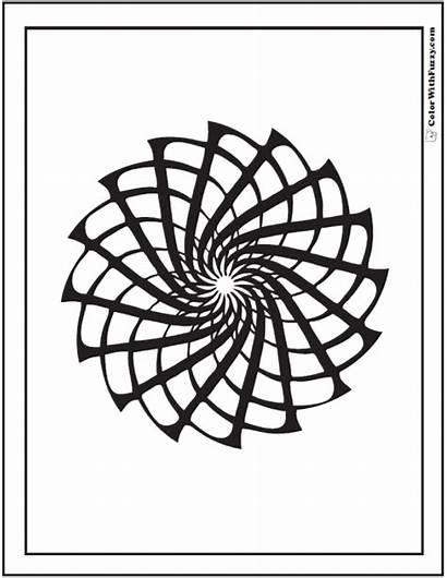 Geometric Coloring Pages Patterns Designs Star Pinwheel