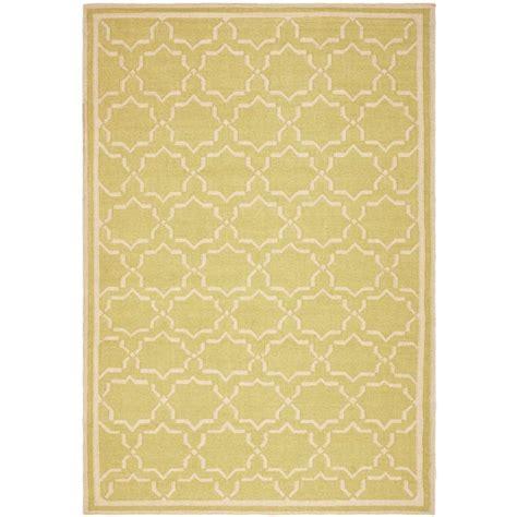 safavieh dhurries safavieh dhurries light green ivory 4 ft x 6 ft area rug