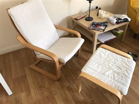 Ikea PoÄng Oak Veneer/finnsta White Armchair With