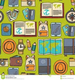 Vector Doodle Set With Travel Icons Adventure Explore