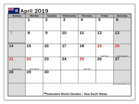 april calendar south wales australia michel zbinden en