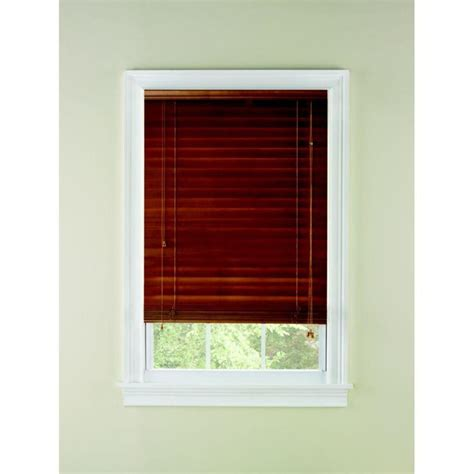 wooden blinds lowes shop custom size now by levolor 2 in oak wood room