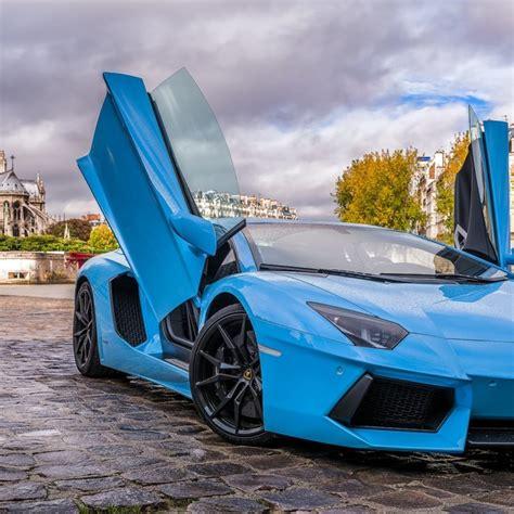 Sky Blue Lamborghini Hd Wallpaper