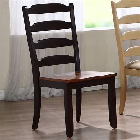 marilyn ladder back side chair whiskey mocha finish