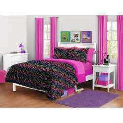 your zone zebra plush reversible comforter set walmart com