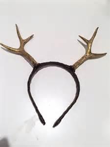 gold antlers antler headband deer headpiece gold antlers reindeer antlers boho burning man