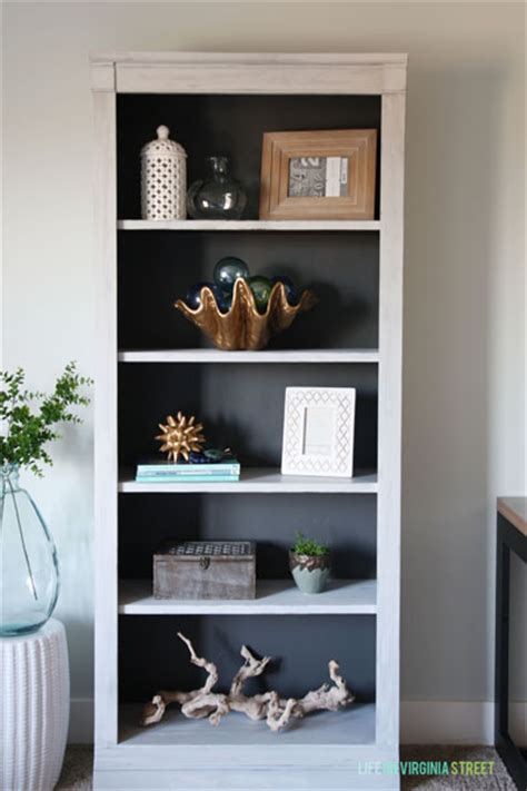 curbside painted bookcase for the craft room life