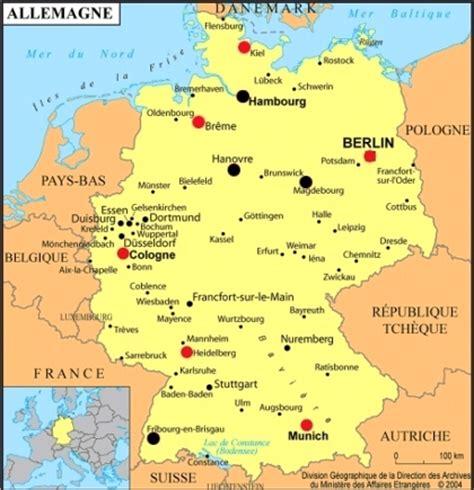 Carte De Avec Villes Principales by Carte Allemagne Avec Villes 187 Carte Du Monde