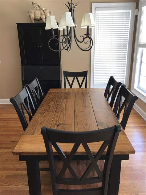 farmhouse table  early american stain