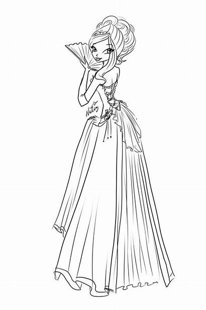 Ball Sketch Rose Dresses Laminanati Coloring Sketches