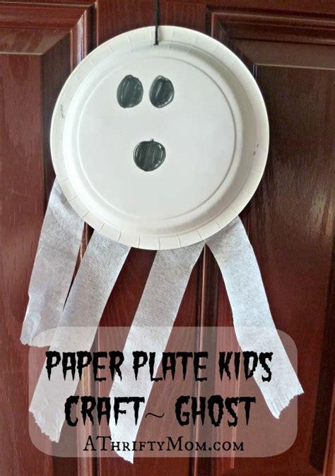 paper plate ghost diy lollipop spiders ghosts kid friendly 2636